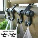 Black Universal Car Back Seat Plastic Dual Hook Hanger