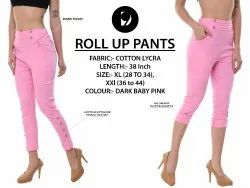 Pink Roll Pants