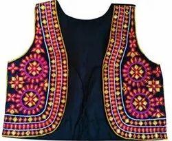 Sleeveless Cotton Phulkari Jackets