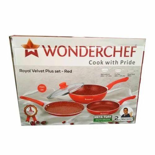 Wonderchef Royal Velvet Plus Non Stick Cookware Set, Packaging Type: Box, Capacity: 2.7, 1.8