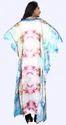Daily Wear V-Neck Printed Satin Silk Kaftans