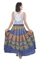 Indian Multi Peacock Women Cotton Mandala Rapron Skirts