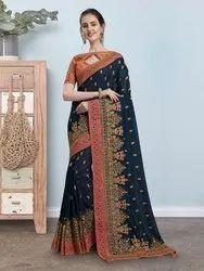 Embroidery Sari
