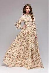 Msalin Cotton Cream Gown