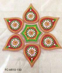 Acrylic Rangoli Modak Shape