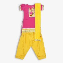 Festive Wear Chanderi Kids Designer Salwar Suit