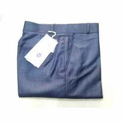 Men's Blue Cotton Pant, Size: 28 - 36