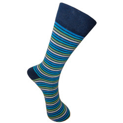 Cottton Striped Formal Socks