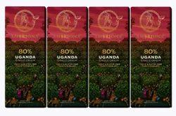 Contains Added Natural Vanilla Bar Ambriona Uganda 80% Dark Single Origin