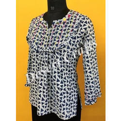 Printed Ladies Designer Top, All Colour