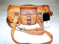 Leather Organizer Gym Bag