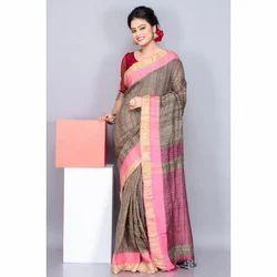 Festive Wear Ladies Handloom Ghicha Saree, With Blouse Piece