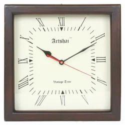 Artshai Square Shape 12 Inch Wooden Wall Clock