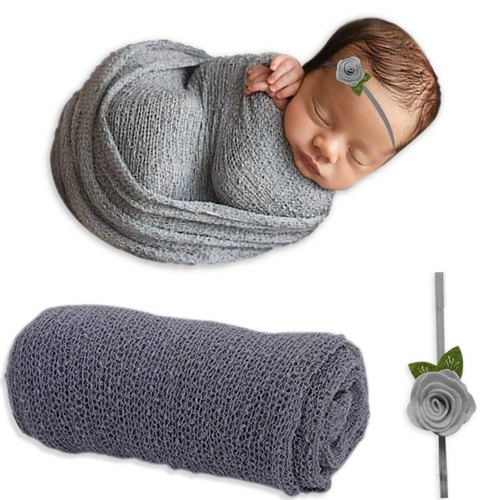 Newborn Baby Photography Props Blanket Rayon Stretch Knit Wraps 40*150cm TD