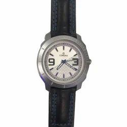 Corona Black Strap Casual Analog Wrist Watch
