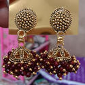 Maroon Traditional Fancy Earrings