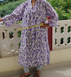 Printed Cotton Bathrobe