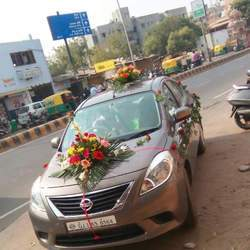 Wedding car decoration in ahmedabad wedding car decoration services junglespirit Image collections