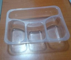 Shri Balaji 4 Compartment Food Packaging Tray