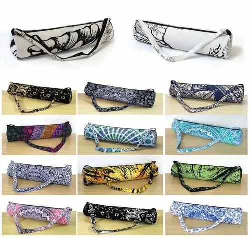 mandala print Yoga Bags