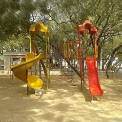 FRP Double Slide Playground Station
