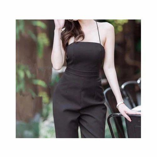 fc8e9723931 Large And XL Black Ladies Trendy Jumpsuit