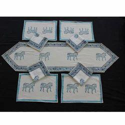 Hand Block Print Dining Table Mat Set