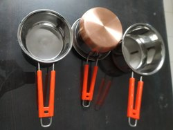 Mirror Finish Stainless Steel Saucepan, For Kitchen, Size: 10x 12
