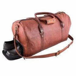 Plain Leather Gym Bag, Size: 24 Inch