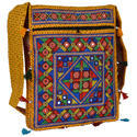 Zaributi Multicolor Yellow Color Ethnic Bags Sling Bags