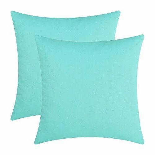 set of 2 premium quality 300 tc cotton solid cushion covers throw pillow cover 24x24 aqua blue
