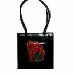 Printed Female Shantiniketan Leather Hand Bags