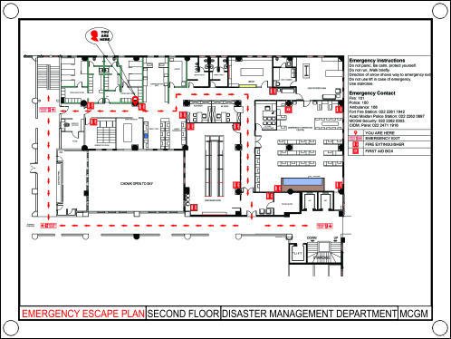 Safety Poster Fire Escape Plan Manufacturer From Mumbai