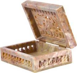 Jali Soapstone Jewelry Box