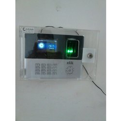 Jiya  Acrylic Dustproof Attendance Machine Cover With Lock