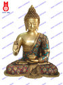 Lord Buddha Sitting B/Hand W/Stone W/Out Base Statue