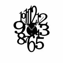 Acrylic Black Designer Wall Clock