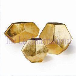 Decorative Iron Metal Flower Vase Golden Finish