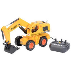 Yellow Plastic Remote Control JCB Toy