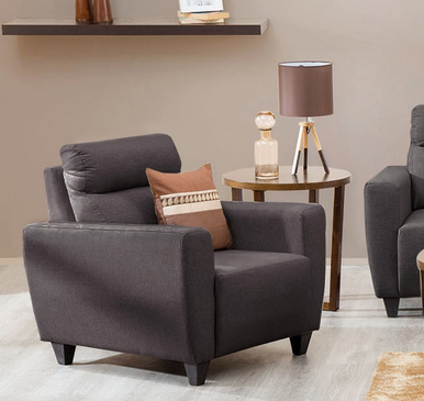 Emily Fabric Armchair Brown Sofas