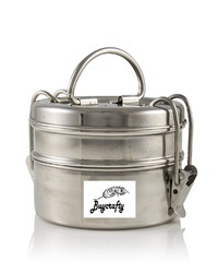 2-Tier Stainless Steel Indian Tiffin Lunch for School