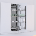 Modern Kitchen Storage Tandem Pantry Pull Out Solid Base 1250450