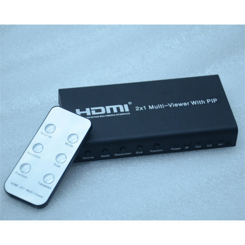 Global Communication 2 X 1 HDMI Multi Viewer With PIP | ID