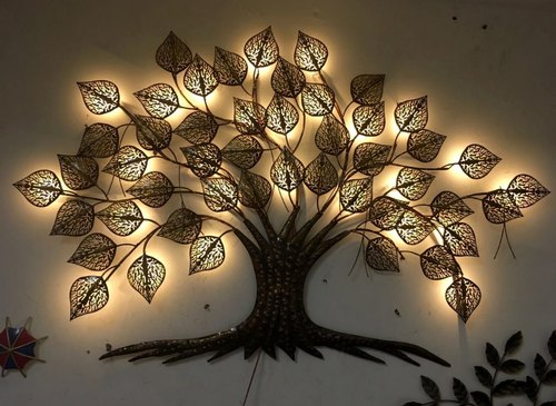 The Dna Group Metal Iron Tree Wall Decor With Led Lights Rs 4200