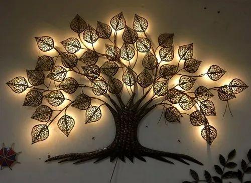 Iron Tree Wall Decor With Led Lights