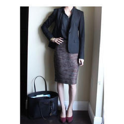 Lycra Cotton Plain Slim Fit Pencil Skirt