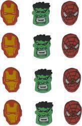 Super Hero  Eraser.