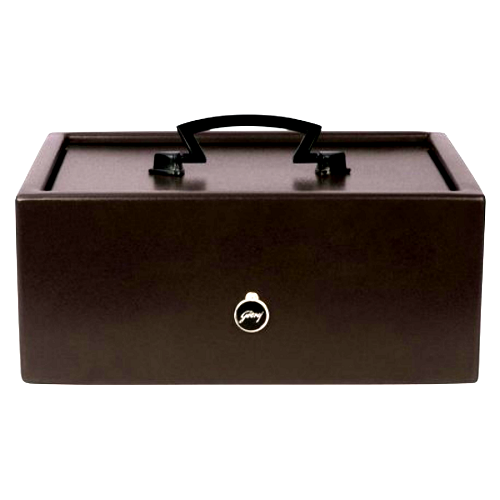 Brown Godrej Cash Box With Coin Tray