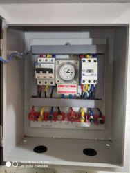 White Feeder Panel Box For High Mast Light & Pole