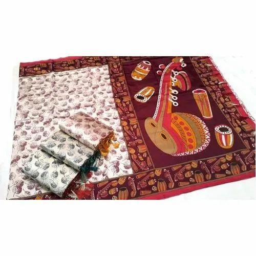 Kalamkari Handloom Silk Saree
